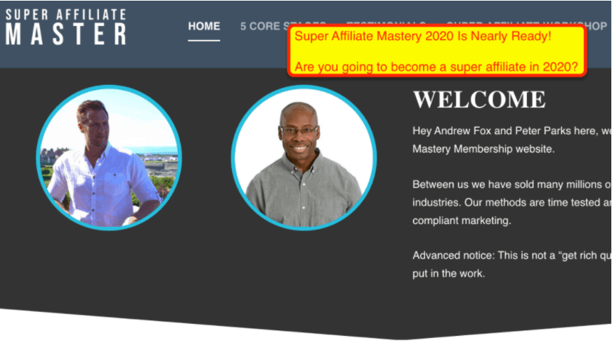 Peter Parks & Andrew Fox – The Ultimate Super Affiliate Mastery 2020