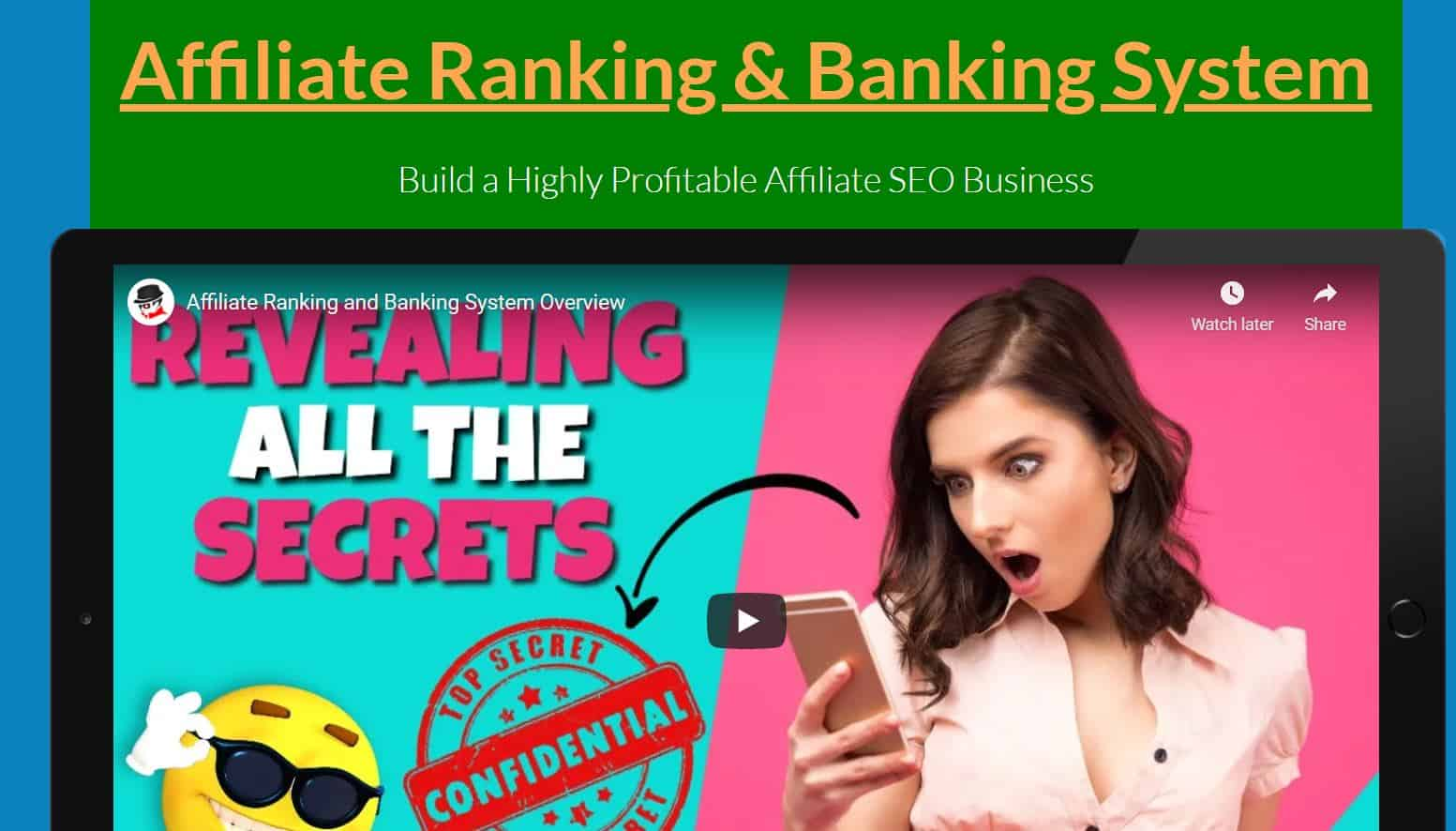 Ryan Hoek Affiliate Ranking and Banking System