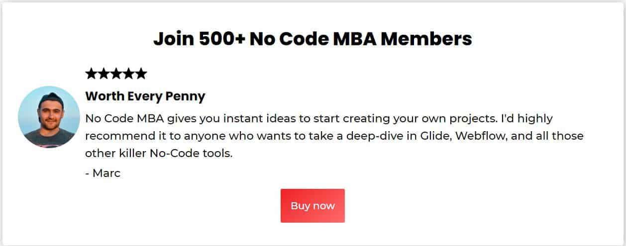 No COde Mba Course by Seth Kramer