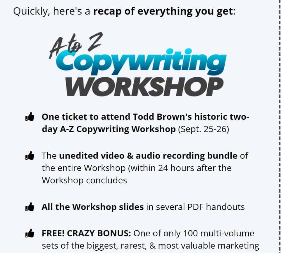 Download A-Z Copywriting Workshop by Todd Brown
